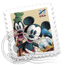Mickeyandfriends stamp 米老鼠和她的朋友们
