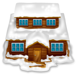 house_with_snow 圣诞房屋