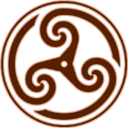 Brown Wheeled Triskelion2