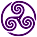 Purple Wheeled Triskelion1