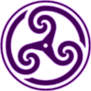 Purple Wheeled Triskelion2